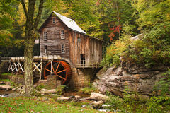 Glade Creek Grist Mill. A historic grist mill in West Virginia Stock Photo