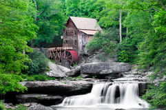 Glade Creek Grist Mill. The beautiful Glade Creek Grist Mill after the spring rains. Located in Babcock Statepark, West Virginia, USA royalty free stock images