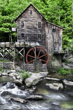 Glade Creek Grist Mill. The Beautiful historic Glade Creek Grist Mill after the spring rains. Located in Babcock State Park, West Virginia stock photos