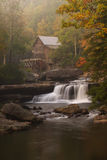 Glade Creek Grist Mill. Historic grist mill at Babcock State Park in West Virginia Stock Image