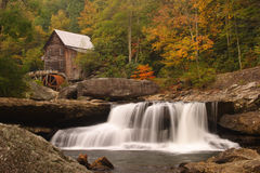Glade Creek Grist Mill. Grist mill at Babcock State Park in West Virginia Stock Photo