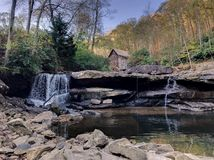 Glade Creek Grist Mill royalty free stock image
