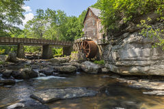 Glade Creek Grist Mill. An old grist mill along a creek in West Virginia Stock Photo