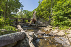 Glade Creek Grist Mill. An old grist mill along a creek in West Virginia Royalty Free Stock Photography