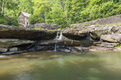 Glade Creek Grist Mill. An old grist mill along a creek in West Virginia Royalty Free Stock Photos