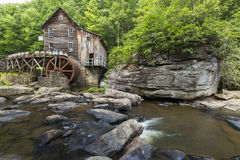 Glade Creek Grist Mill. An old grist mill along a creek in West Virginia Stock Images