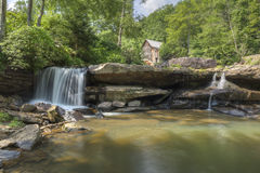 Glade Creek Grist Mill. An old grist mill along a creek in West Virginia Royalty Free Stock Image