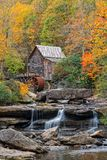 The Glade Creek Grist Mill In West Virginia. Glade Creek Grist Mill At Babcock State Park In West Virginia Royalty Free Stock Images