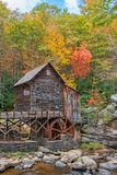 The Glade Creek Grist Mill In West Virginia. Glade Creek Grist Mill At Babcock State Park In West Virginia stock images