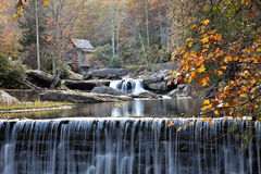 Glade Creek Gristmill in autumn royalty free stock photography