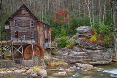Glade Creek Gristmill in late Autumn Stock Image