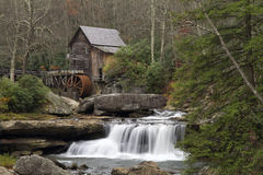 Glade Creek Gristmill in late Autumn Royalty Free Stock Photo