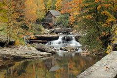 Glade Creek Mill. Photo of the Glade Creek Mill in Babcock State Park in October of 2012 Stock Image