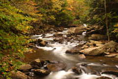 Glade Creek Scenic. Glade Creek runs through beautiful Babcock State Park in West Virginia during autumn Royalty Free Stock Images