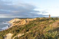Glade Head Head klippor för fyr och för bög av lera på westernmoen Royaltyfri Bild