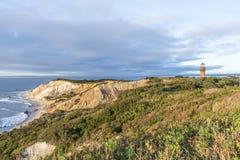 Glade Head Head klippor för fyr och för bög av lera på westernmoen Royaltyfria Foton