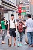 Glade par, i att shoppa område, Shanghai, Kina Arkivfoton