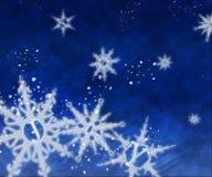Glade snöflingor Arkivfoton