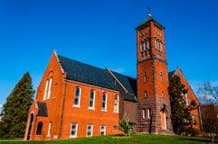Gladfelter Hall, auf dem Campus von Gettysburg-College, PA stockbild
