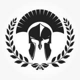 Gladiador, ícone do cavaleiro com grinalda do louro Imagens de Stock