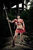 Gladiador atlético da mulher Fotografia de Stock