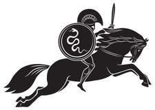 Gladiador com uma lança ilustração royalty free