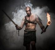 Gladiador con una espada Fotografía de archivo