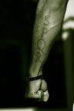 Gladiador del brazo del tatuaje SPQR Imagen de archivo libre de regalías