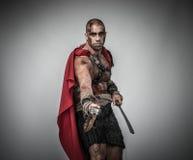 Gladiador ferido com espada foto de stock royalty free
