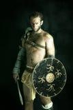 Gladiador/guerrero bárbaro imagen de archivo