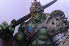 Gladiador Hulk, Bruce Banner, o mais forte dos vingadores, herói da banda desenhada da maravilha fotos de stock