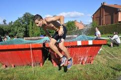 Gladiador Race - raça de obstáculo extrema no La Fresneda, Espanha imagens de stock royalty free