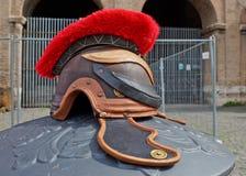 Gladiador romano del casco de la guerra, Italia Fotos de archivo
