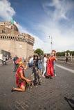 Gladiadores - Roma Castel Sant Angelo Foto de archivo libre de regalías