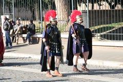Gladiadores romanos Fotos de archivo libres de regalías