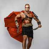 Gladiateur blessé avec l'épée photos stock