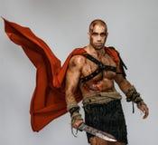 Gladiateur blessé avec l'épée images stock