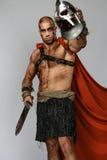 Gladiateur blessé avec l'épée photo libre de droits