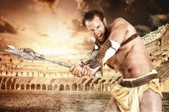 Gladiateur dans l'arène Photos libres de droits