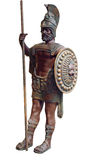 Gladiateur en bronze images stock