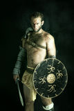 Gladiateur/guerrier barbare Image stock