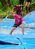 Gladiateur Race - course d'obstacle extrême en La Fresneda, Espagne images stock