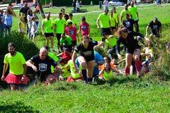 Gladiateur Race - course d'obstacle extrême en La Fresneda, Espagne photo libre de droits