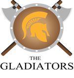 Gladiatiorlogoen Fotografering för Bildbyråer