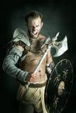 Gladiator/βάρβαρος πολεμιστής Στοκ φωτογραφίες με δικαίωμα ελεύθερης χρήσης