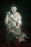 Gladiator/βάρβαρος πολεμιστής Στοκ εικόνες με δικαίωμα ελεύθερης χρήσης