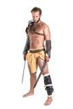 Gladiator/βάρβαρος πολεμιστής Στοκ φωτογραφία με δικαίωμα ελεύθερης χρήσης