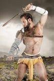 Gladiator/βάρβαρος πολεμιστής Στοκ Φωτογραφίες