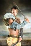 Gladiator/βάρβαρος πολεμιστής Στοκ Εικόνες