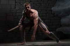 Gladiator με την ικεσία τσεκουριών Στοκ φωτογραφίες με δικαίωμα ελεύθερης χρήσης